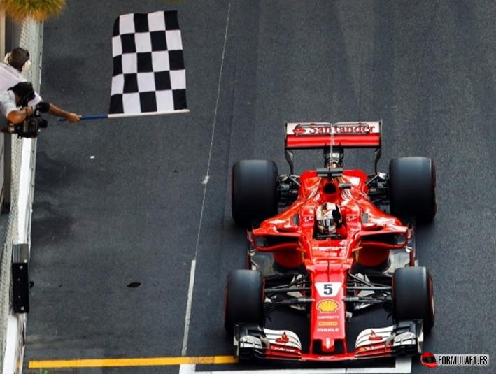 Vettel logra la victoria. GP Mónaco 2017