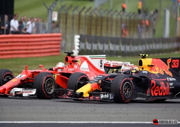 Duelo Verstappen y Vettel. GP Gran Bretaña 2017