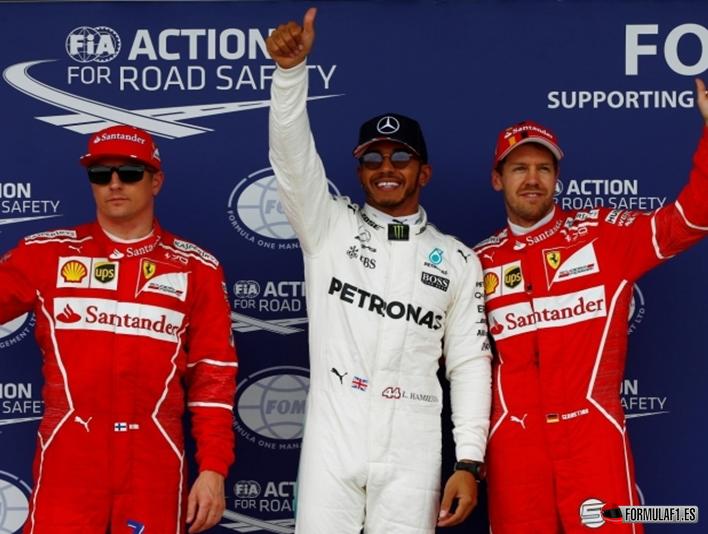 Hamilton logra la Pole. Calificación GP Gran Bretaña 2017