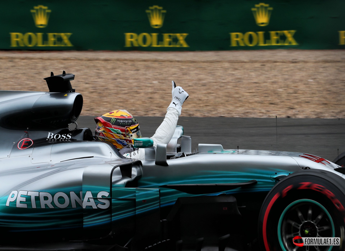 Hamilton logra la victoria. GP de Gran Bretaña 2017