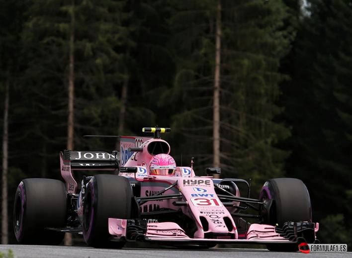 Ocon. Calificación GP de Austria 2017