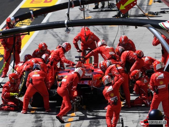 Pit stop Ferrari. GP Hungría 2017