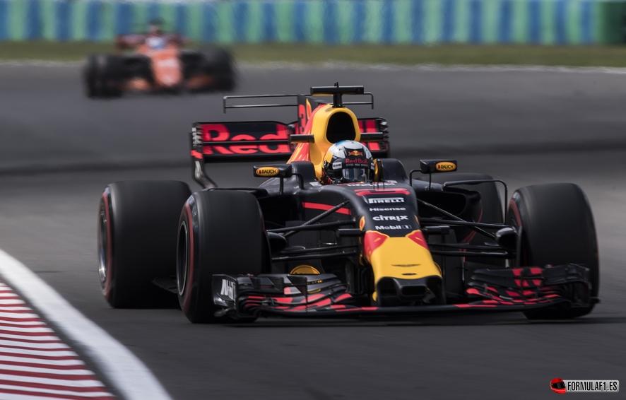 GP de Hungría 2017 – Libres 2: Ricciardo se mantiene en cabeza con Vettel y Bottas a dos décimas