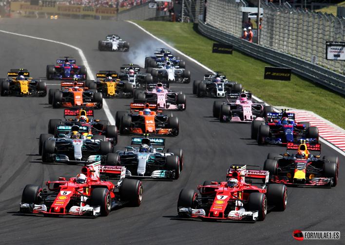 Salida GP Hungría 2017