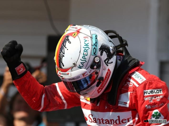 Vettel logra la victoria. GP Hungría 2017
