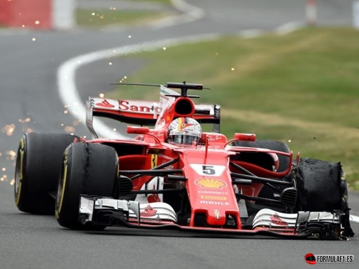 Vettel. GP Gran Bretaña 2017