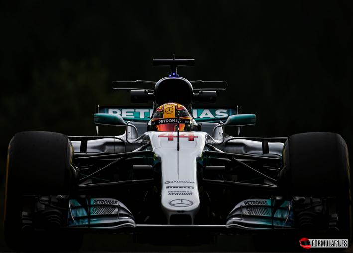 L. Hamilton Pole del GP de Bélgica 2017