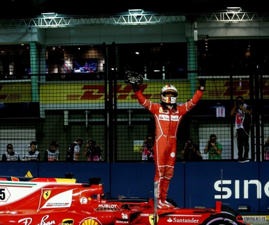GP de Singapur 2017- Calificación: Pole para Vettel con Alonso octavo y Sainz décimo
