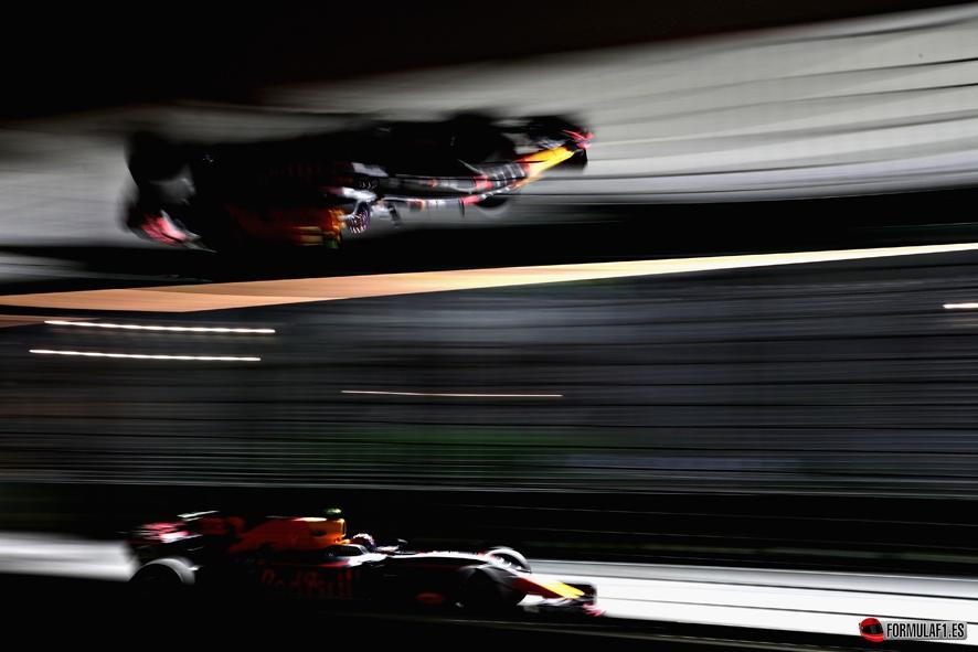 GP de Singapur 2017- Libres 2: Ricciardo lidera el doblete de Red Bull