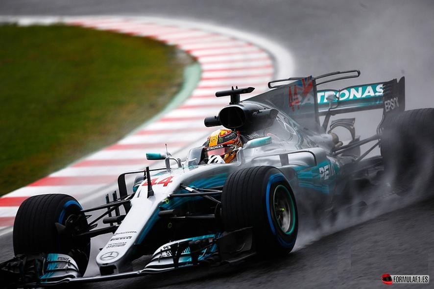 GP de Japón 2017-Libres 2: Hamilton lidera bajo el diluvio de Suzuka