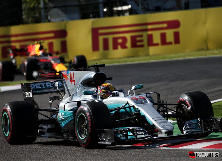 Hamilton y Verstappen. GP de Japón 2017