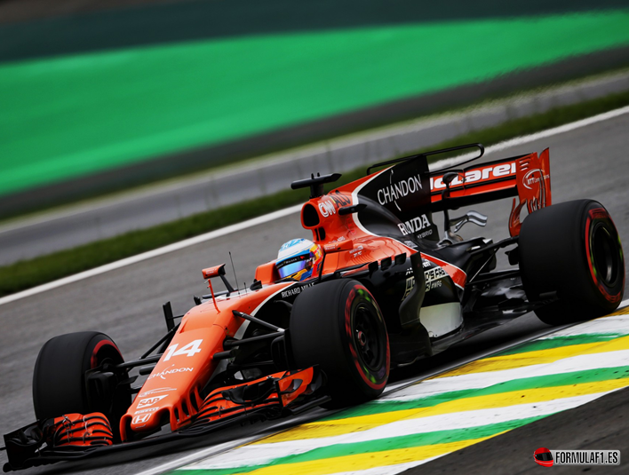 Alonso. Calificación GP Brasil 2017