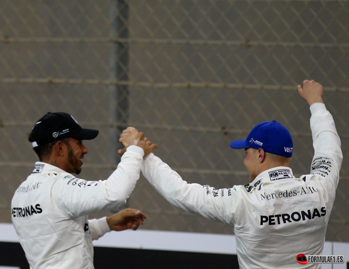 Bottas logra la Pole. Calificación GP Abu Dabi 2017
