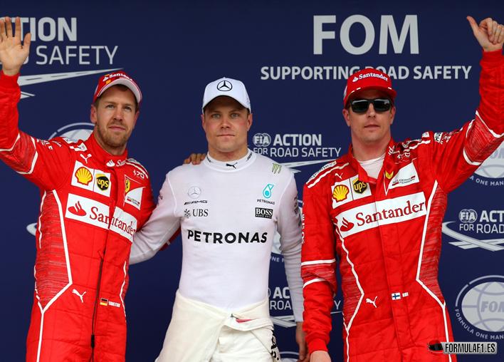 Bottas logra la Pole. Calificación GP Brasil 2017
