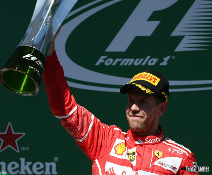 Vettel consigue la victoria. GP Brasil 2017