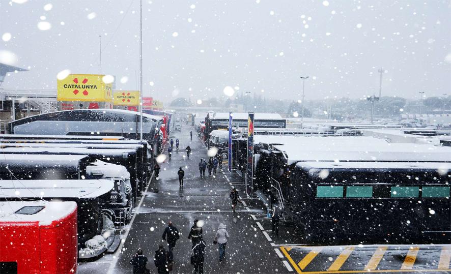 La nieve es la protagonista en Montmeló