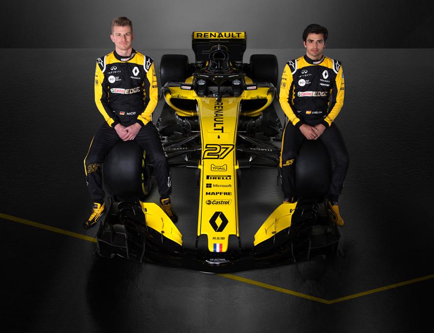 Renault presenta el nuevo R.S.18 de Carlos Sainz y Nico Hülkenberg