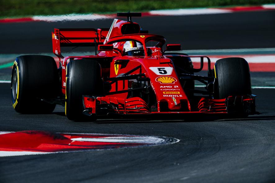 Vettel vuela en Montmeló con más de un segundo de ventaja
