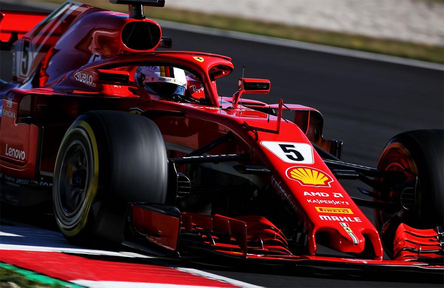 Vettel lidera mientras McLaren sigue en apuros