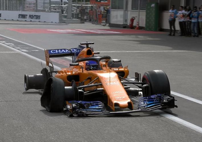Alonso. GP Azerbaiyán 2018