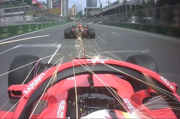 Ferrari de Vettel. Calificación GP Azerbaiyán 2018