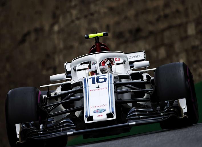 Leclerc. Calificación GP Azerbaiyán 2018