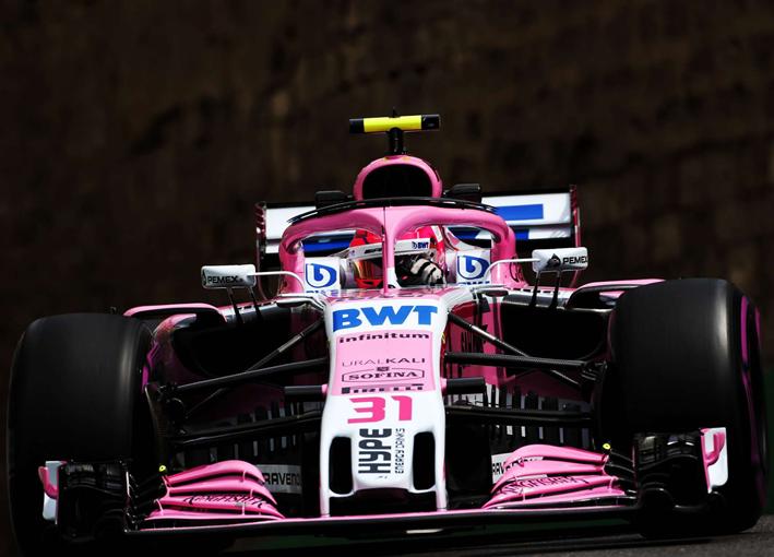 Ocon. Calificación GP Azerbaiyán 2018