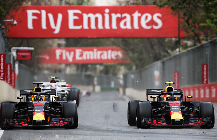 Ricciardo y Verstappen. GP Azerbaiyán 2018