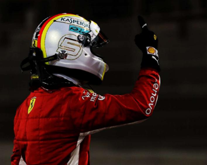 Vettel consigue la Pole. GP Baréin 2018