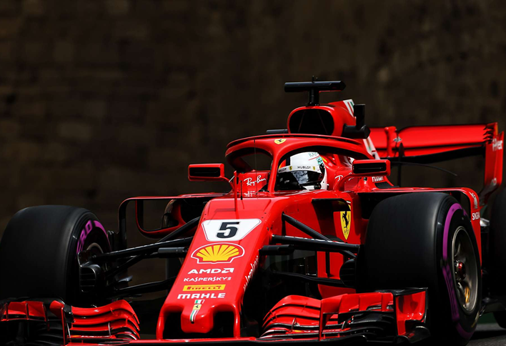 Vettel logra la Pole. GP Azerbaiyán 2018