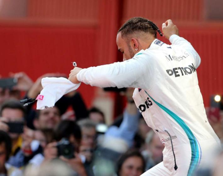 Hamilton logra la victoria. GP España 2018