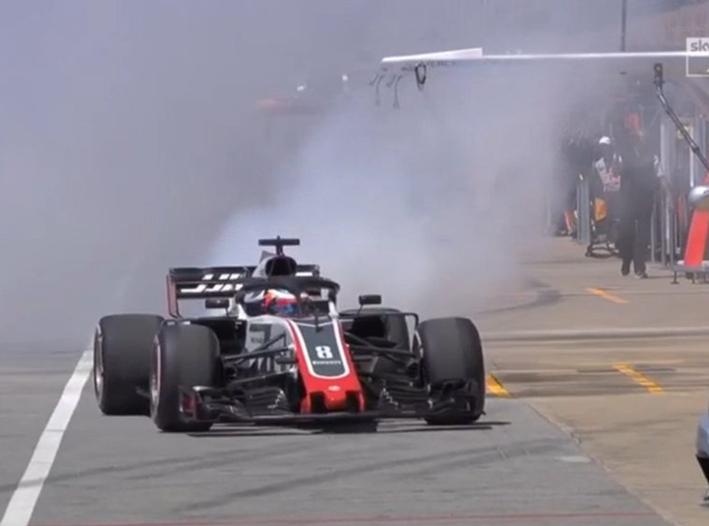 Grosjean. Calificación GP Canadá 2018