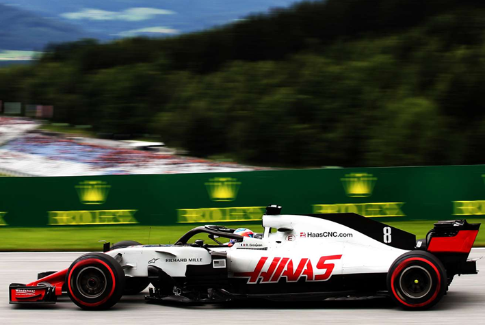 Grosjean. Calificación GP de Autria 2018
