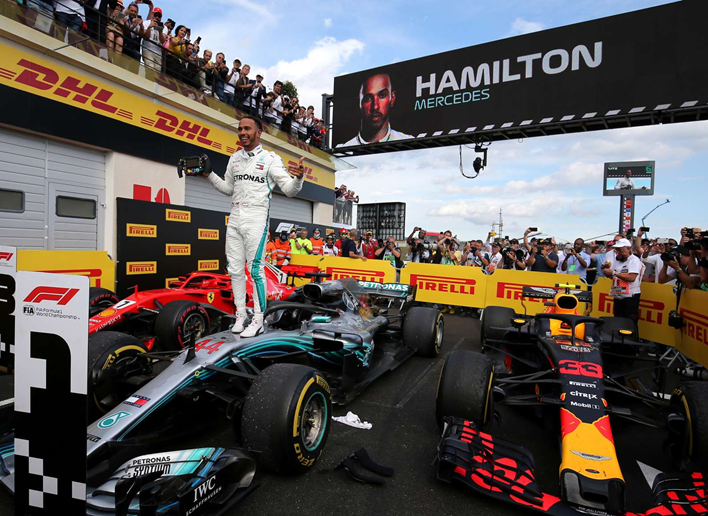 Hamilton logra la victoria. GP Francia 2018