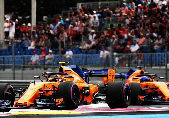 McLaren. Calificación GP Francia 2018