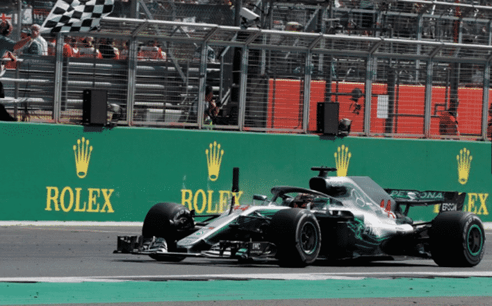 Hamilton. GP Gran Bretaña 2018