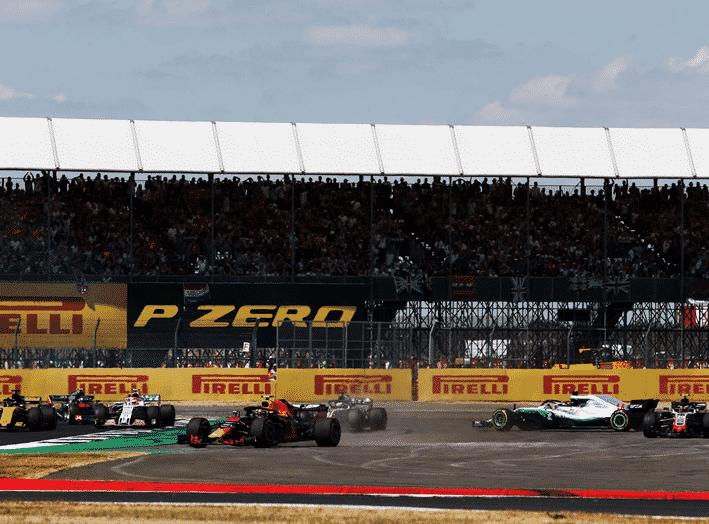 Salida GP Gran Bretaña 2018