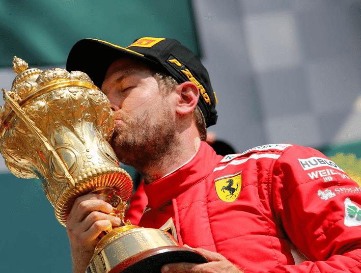 Vettel consigue la victoria. GP de Gran Bretaña 2018