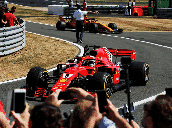 Vettel logra la victoria. GP de Gran Bretaña 2018
