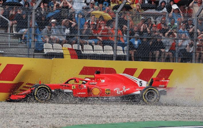 Vettel. GP Alemania 2018