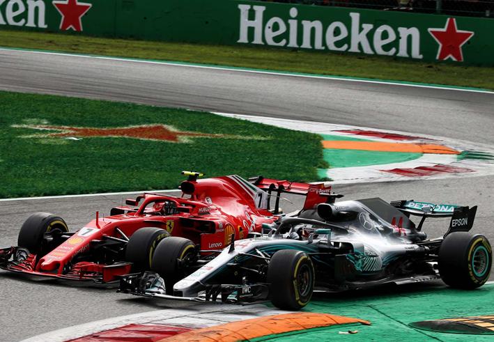 Hamilton y Raikkonen. GP de Italia 2018