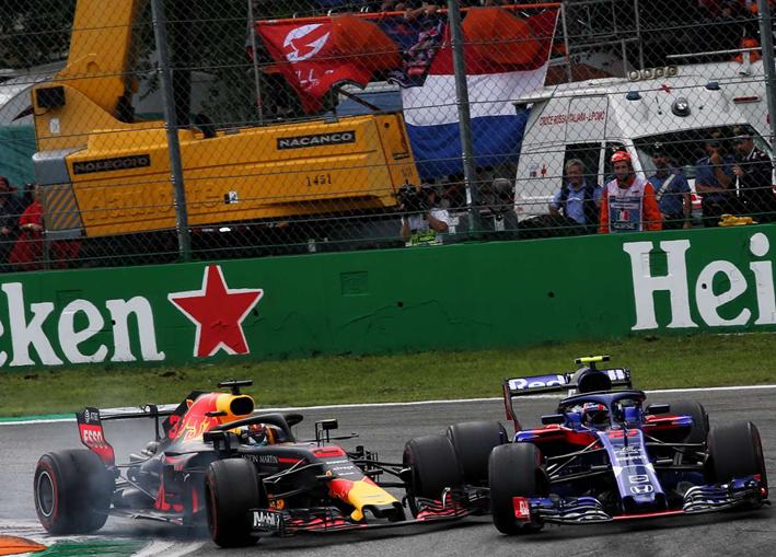 Ricciardo y Gasly. GP de Italia 2018
