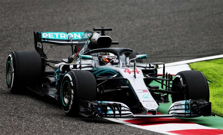 GP de Japón 2018-Libres 1: Mercedes domina incluso sin el superblando