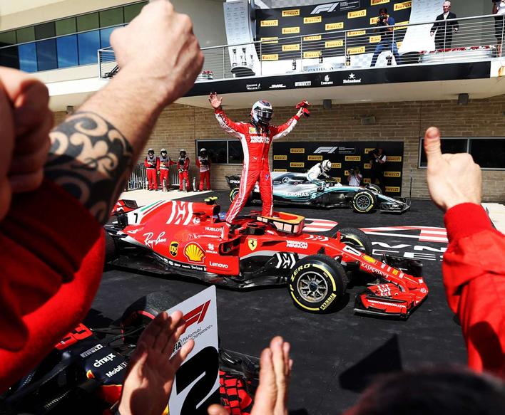 Raikkonen consigue la victoria. GP de EE.UU. 2018