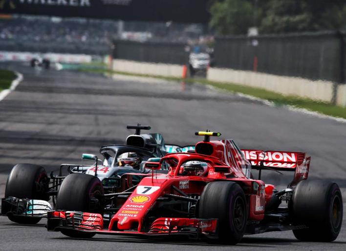 Raikkonen y Hamilton. GP México 2018