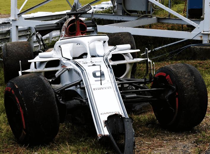 Sauber de Ericsson. Calificación GP de Japón 2018