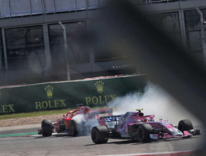 Trompo de Vettel. GP EE.UU. 2018