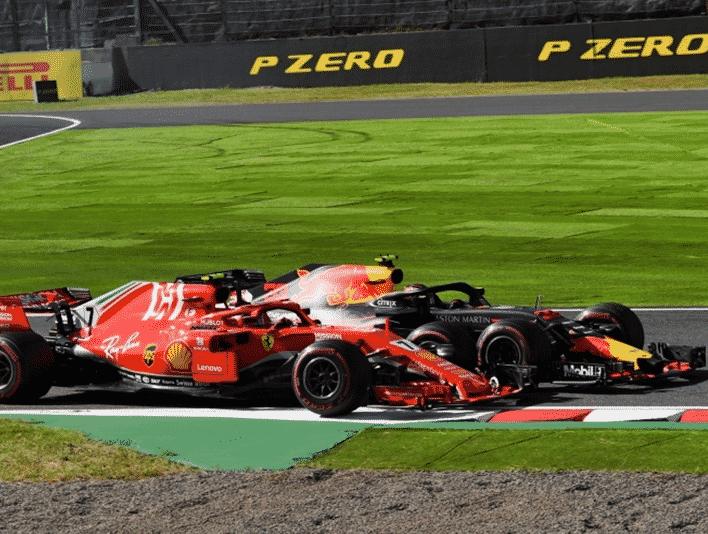 Verstappen y Raikkonen. GP Japón 2018