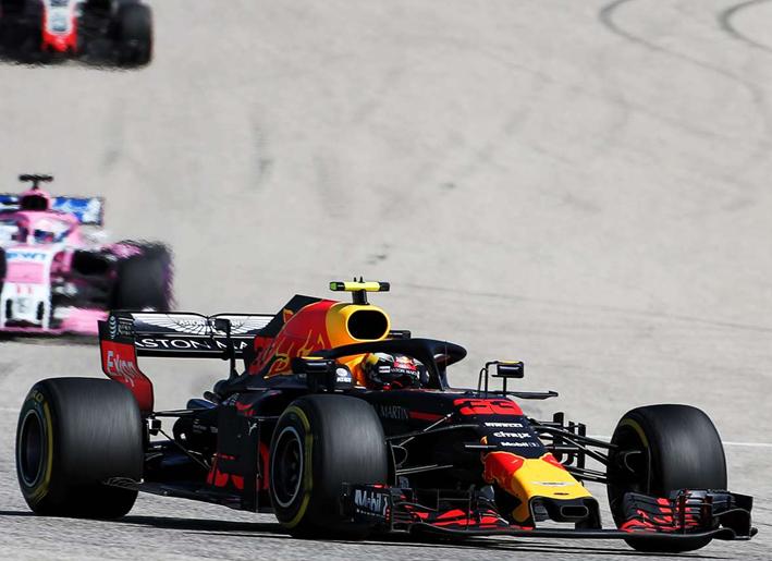 Verstappen. GP EE.UU. 2018