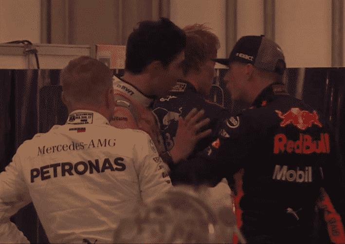Incidente entre Verstappen y Ocon. GP Brasil 2018